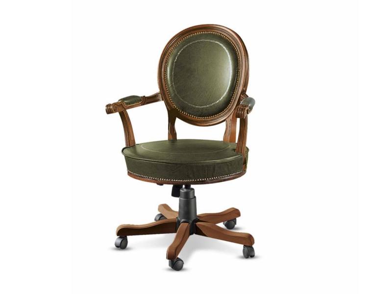 21r revolving armchair with wheels veneto chairs