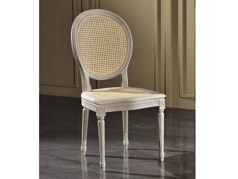 art. 90S/F Sedia luigi xvi con schienale e seduta cannata | SEDIE ...