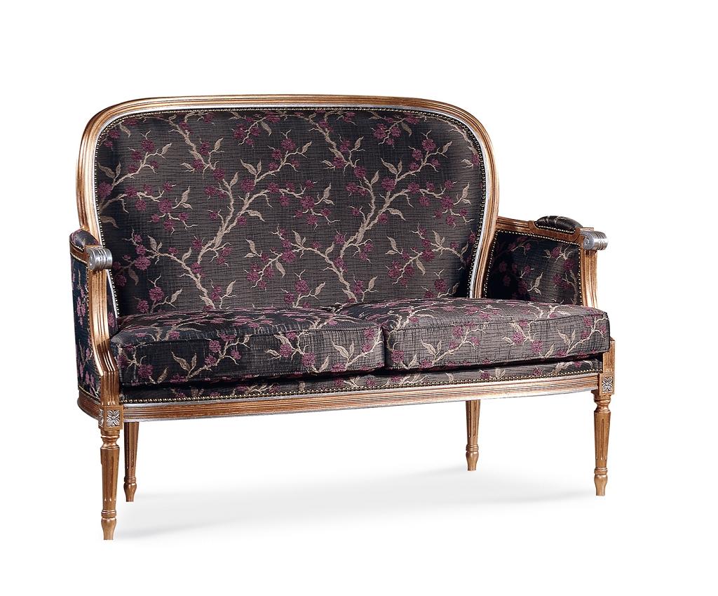 Art 300d divano luigi xvi imperiale tondo liscio sedie for Divano tondo