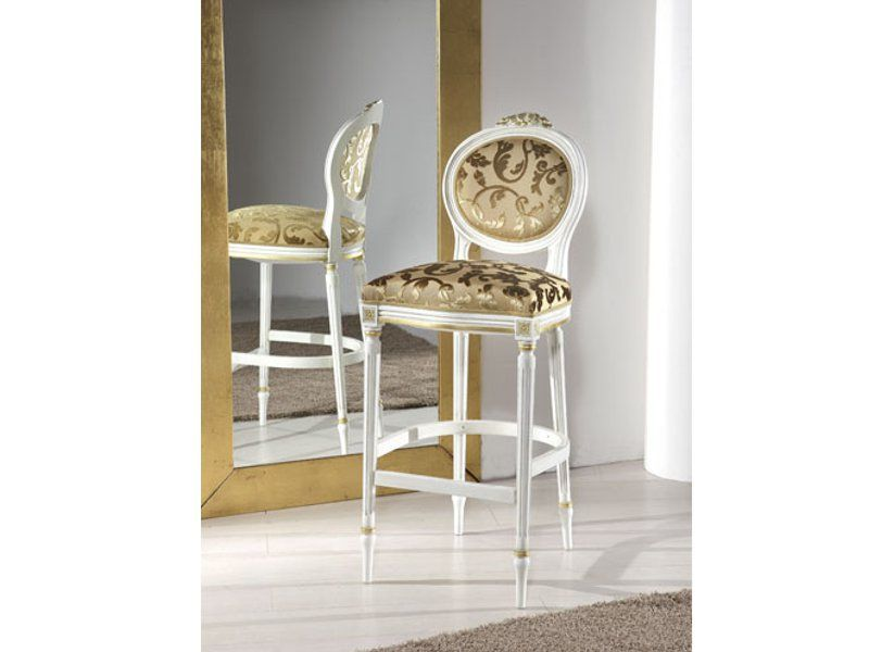 Art. 90sg c sgabello bar luigi xvi con cresta sedie veneto