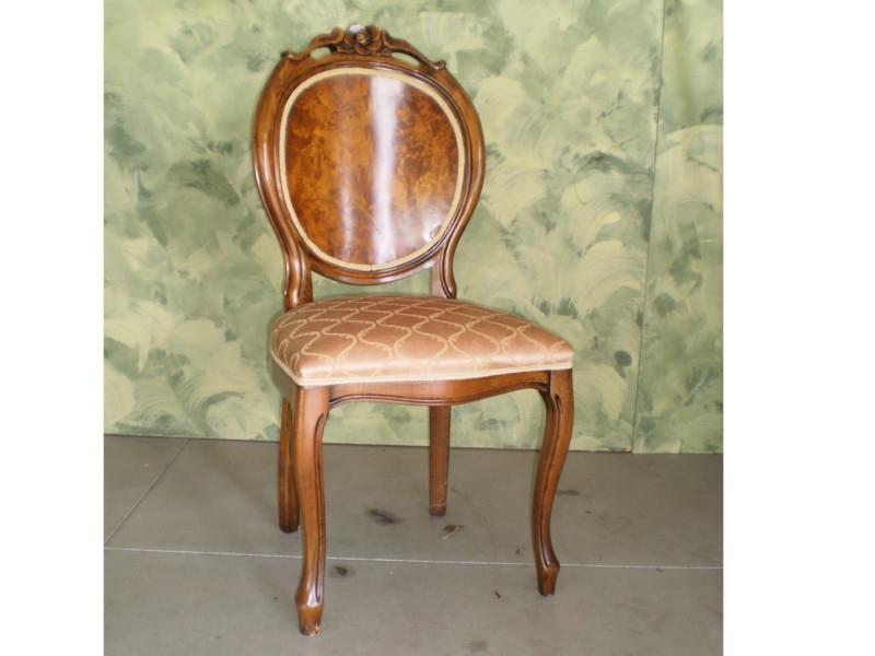 Art 96s Sedia Rosa Ovale Con Radica Veneto Chairs