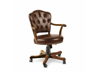 9R LOW REVOLVING ARMINCHAIR WITH WHEELS
