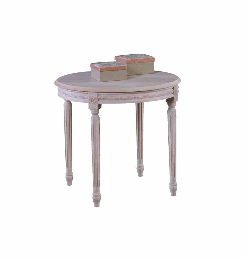 Art. 04T Tavolino Luigi XVI Tondo da 60 intrecciato (altezza cm. 55)