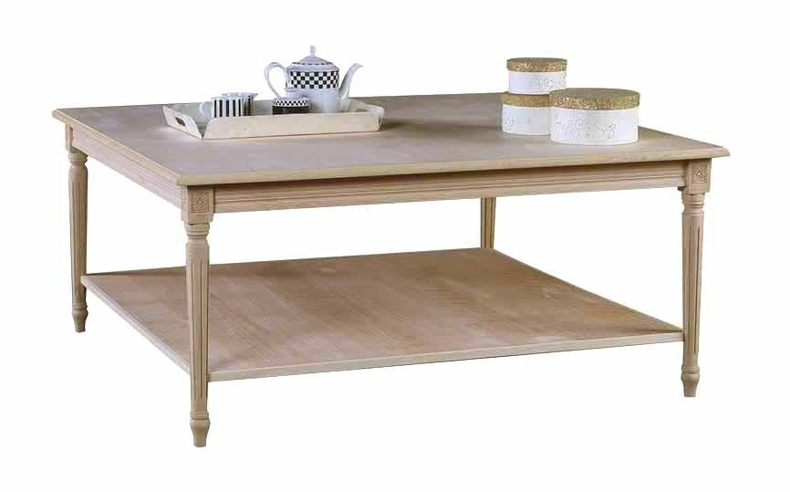 Art. 06T Tavolino Luigi XVI Quadrato da 120x120 con pianetto sotto