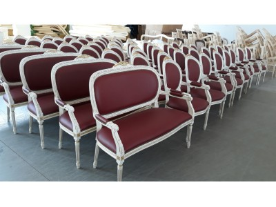 Poltrone e divani luigi xvi intrecciate con cresta